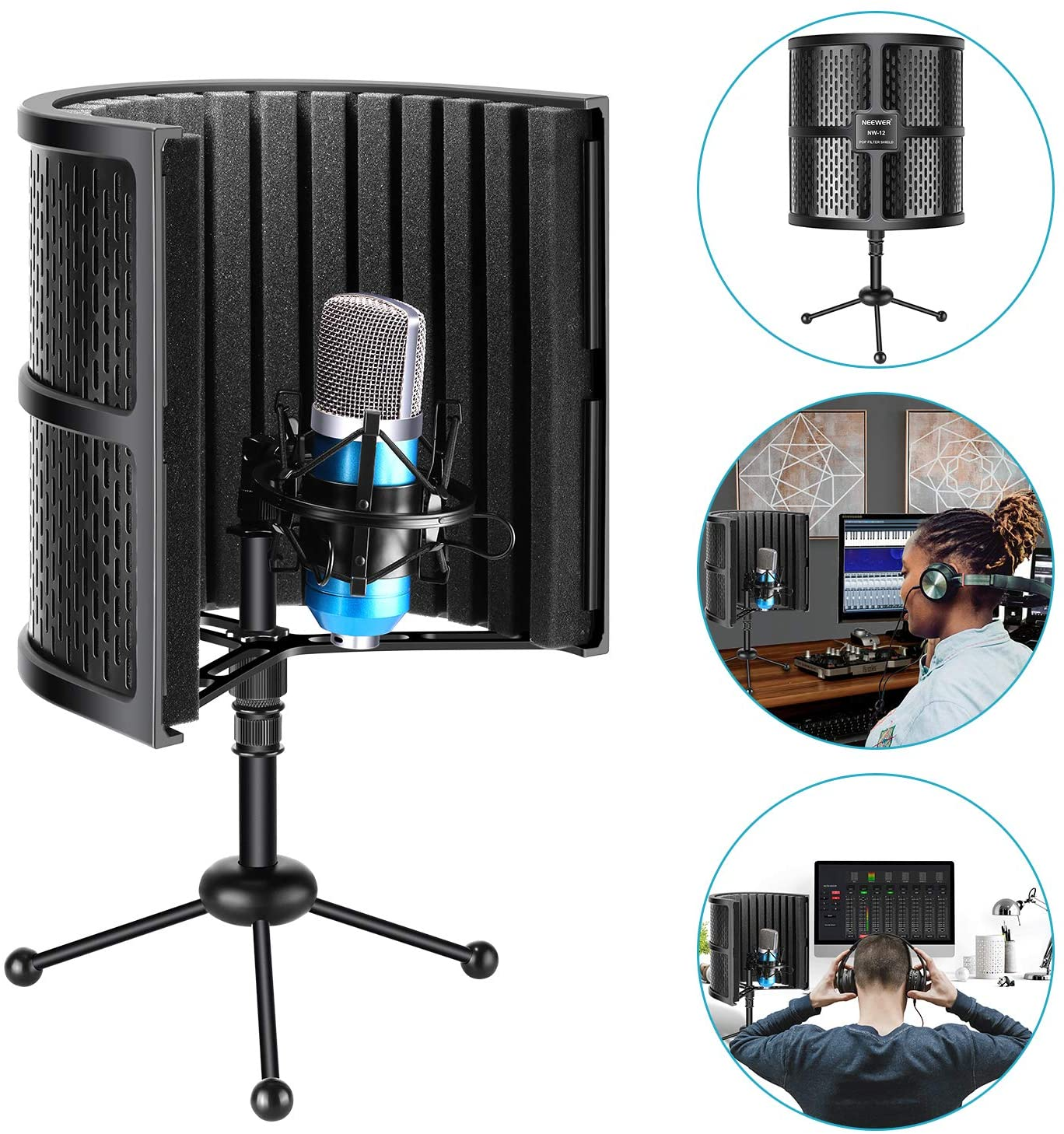 Neewer Tabletop Microphone Isolation Shield