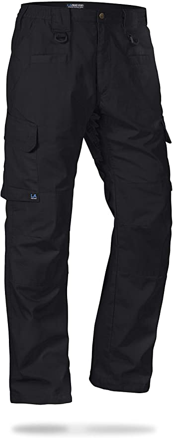 LA Police Gear Men's Tactical Pant with Elastic Waistband