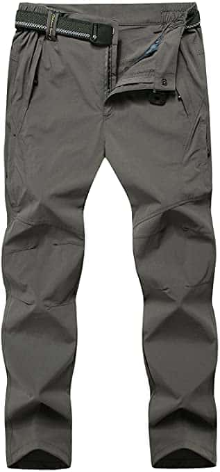 TBMPOY Men's Outdoor Hiking Mountain Pants with Belt