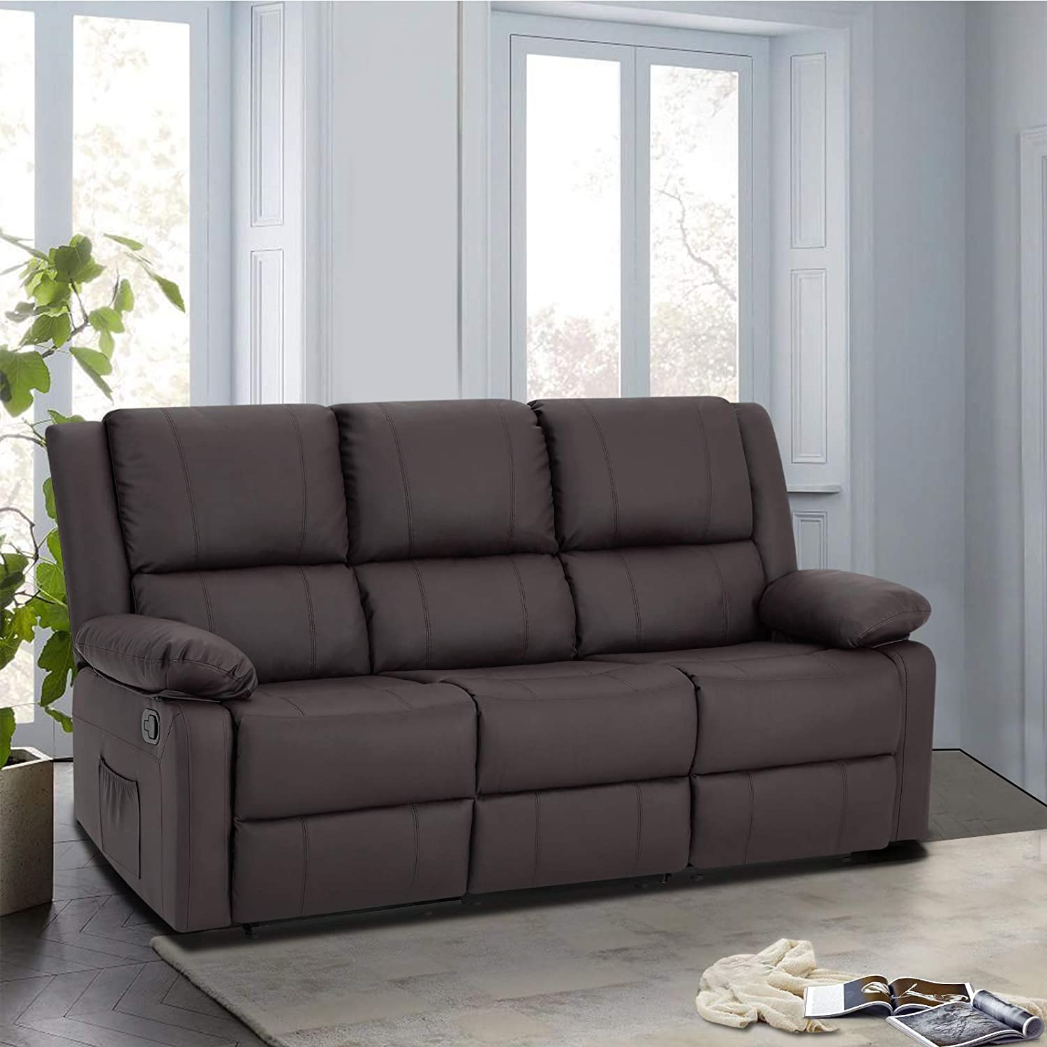 Esright 3 Seat Sofa Living Room Chair with Massage Heated