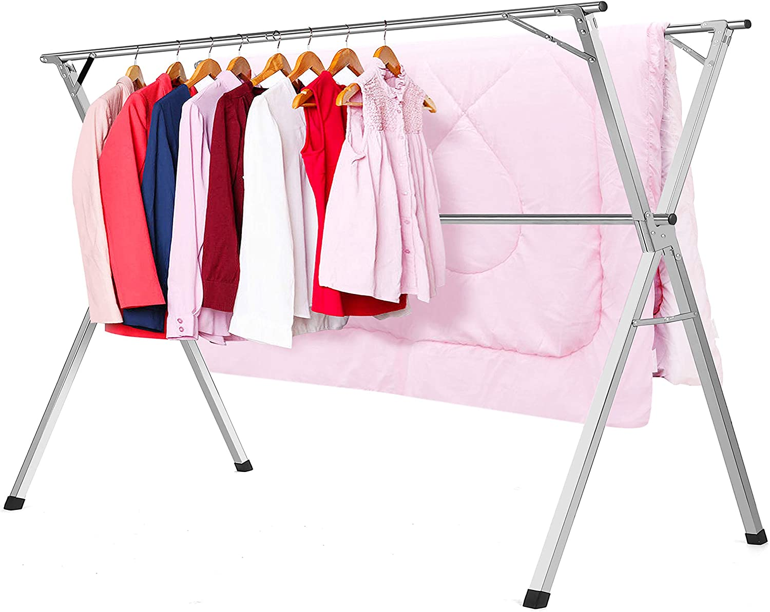 HYNAWIN Clothes Drying Racks Stainless Steel Laundry Rack