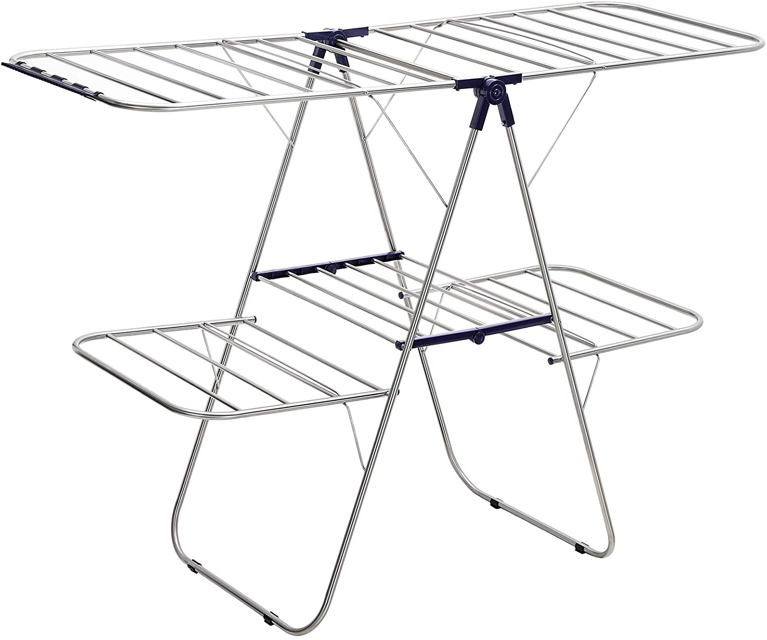 SONGMICS Clothes Drying Rack, Foldable 2-Level Airer