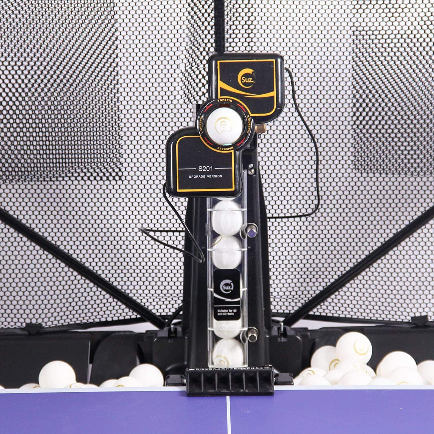 Suz Table Tennis Robot with Net Ping Pong Ball Machine