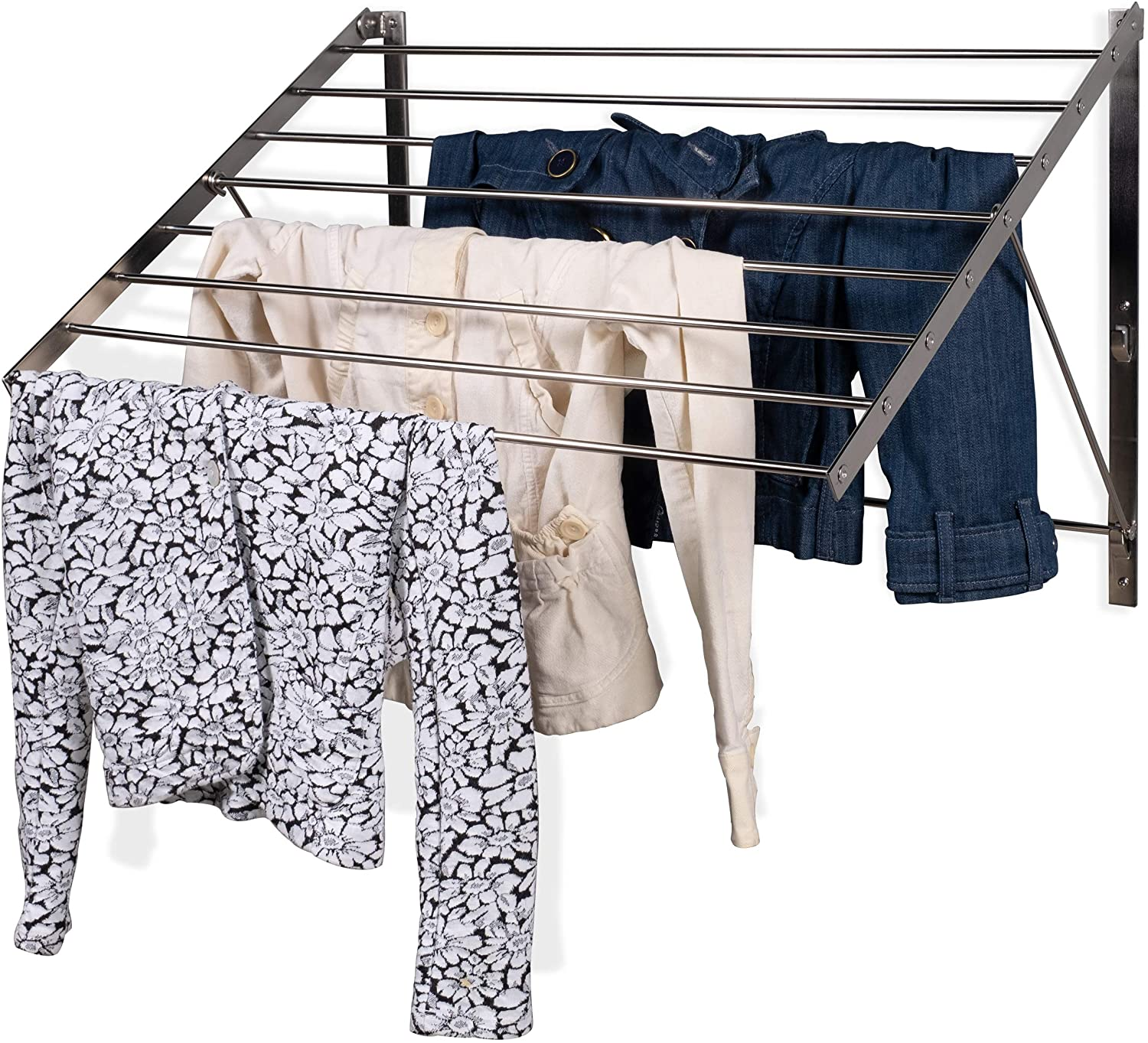 brightmaison Clothes Laundry Drying Rack Stainless Steel