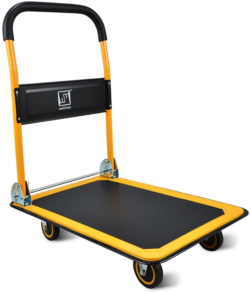 Push Cart Dolly by Wellmax, Yellow Color