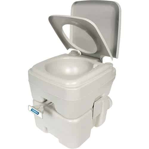 Camco 41541 Portable Travel Toilet-Designed for Recreational Activities - 5.3 Gallon